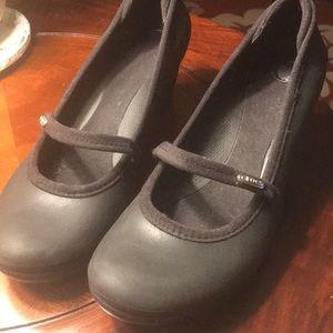 Crocs Black Mary Jane wedge Size 11